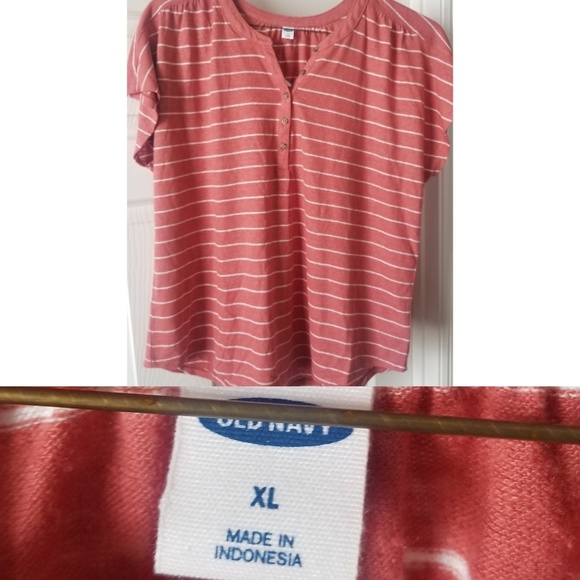 Old Navy Tops - NWT - Old Navy Striped Henley Tee